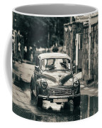 Retromobile. Morris Minor. Vintage Monochrome Coffee Mug