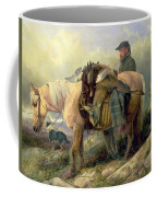 Returning From The Hill Coffee Mug by Richard Ansdell