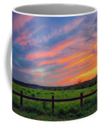 Retzer Nature Center - Summer Sunset Over Field And Fence Coffee Mug