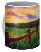 Retzer Nature Center - Sunset Over Field Coffee Mug