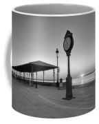 Revere Beach Clock At Sunrise Revere Ma Black And White Coffee Mug