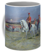 Reviewing The Troops Coffee Mug by Jean Baptiste Edouard Detaille