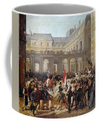 Revolution Of 1830 Departure Of King Louis-philippe For The Paris Townhall Horace Vernet Coffee Mug