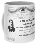 Reward Poster For The Arrest Of Oliver Perry Issued  Coffee Mug