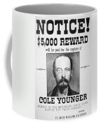 Reward Poster For Thomas Cole Younger Coffee Mug by American School
