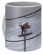 Rewiring A Power Pole Coffee Mug