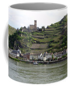 Rhine Castle And Terraced Vineyards Coffee Mug