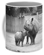 Rhino Mom And Baby Coffee Mug