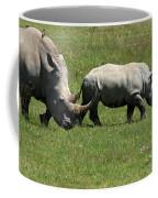 Rhino Mother And Calf - Kenya Coffee Mug