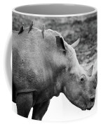 Rhino With Passengers Coffee Mug