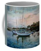 Rhodes Mandraki Harbour Coffee Mug by Ylli Haruni