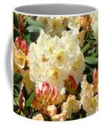 Rhodies Creamy Yellow Orange 3 Rhododendrums Gardens Art Baslee Troutman Coffee Mug