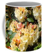 Rhododendrons Garden Art Prints Creamy Yellow Orange Rhodies Baslee Coffee Mug