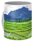 Rice Paddies And Mountains Coffee Mug
