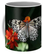 Rice Paper Butterfly Coffee Mug