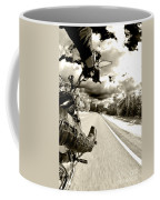 Ride To Live Coffee Mug by Micah May