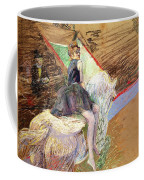 Rider On A White Horse Coffee Mug by Henri de Toulouse Lautrec