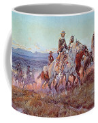 Riders Of The Open Range Coffee Mug by Charles Marion Russell