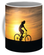 Riding At Sunset Coffee Mug