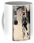 Riding My Bicycle In A Red Hat Coffee Mug
