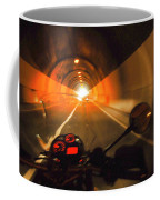 Riding Through One Of The Many Tunnels In The Italian Alps Coffee Mug