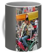 Rikshaw Rider - New Delhi India Coffee Mug