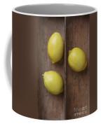 Ripe Lemons In Wooden Tray Coffee Mug