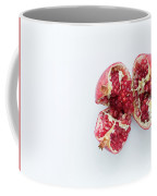 Ripe Pomegranate Fruit On A White Background Coffee Mug
