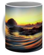 Ripple Effect Beach Image Art Coffee Mug by Jo Ann Tomaselli