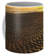 Ripples In The Sand Low Tide Golden Sunset Coffee Mug