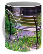 River Fishing Bench Coffee Mug