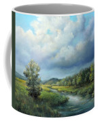 River Landscape Spring After The Rain Coffee Mug by Katalin Luczay