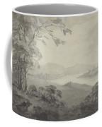 River Landscape With Ruins Coffee Mug