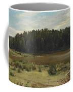 River On The Edge Of A Wood Coffee Mug