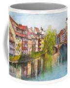 River Pegnitz In Nuremberg Old Town Germany Coffee Mug