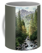 River Stream In Mountain Forest Coffee Mug