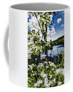 River View Through Flowers. On The Bridge Of Flowers. Coffee Mug