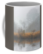 Riverbank In The Fog Coffee Mug