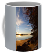 Riverbank Sunset Coffee Mug