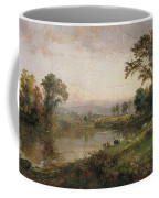Riverscape In Early Autumn Coffee Mug by Jasper Francis Cropsey