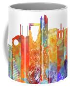 Riyadh Landmarks Watercolor Poster Coffee Mug