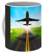 Road And Plane Coffee Mug