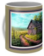 Road On The Farm Haroldsville L A With Decorative Ornate Printed Frame.  Coffee Mug