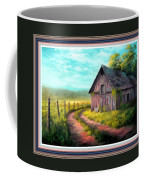 Road On The Farm Haroldsville L B With Decorative Ornate Printed Frame. Coffee Mug