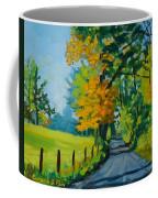 Road Through Barrenridge Coffee Mug
