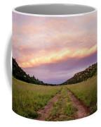 Road Through New Mexico Landscape At Sunrise Coffee Mug