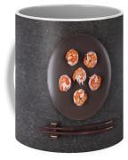 Roasted Shrimps Served On Plate Coffee Mug