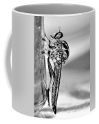 Robber Fly - Black And White Coffee Mug