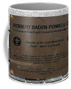 Robert Baden-powell Plaque Coffee Mug
