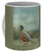 Robin Abstract Background With Texture Coffee Mug